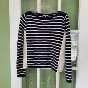 Madewell blue striped cropped sweater size M